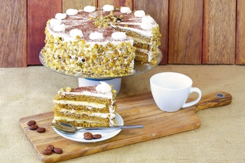 Cake: Coffee And Custard Torte