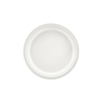 "7"" (18cm) Biodegradable Round Plate (white)"
